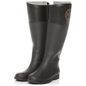 Tory Burch Dark Brown Classic Rain Boots Size 8